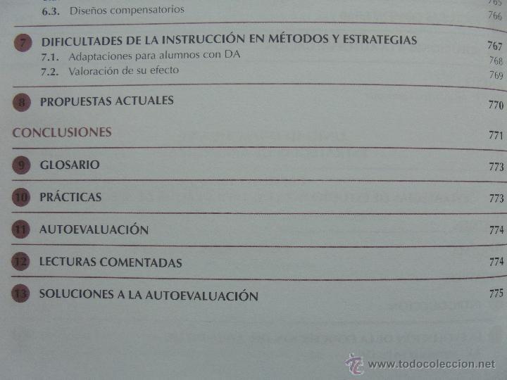 Libros de segunda mano: DIFICULTADES DE APRENDIZAJE E INTERVENCION PSICOPEDAGOGICA. TEORIA, PRACTICAS Y GUIA DIDACTICA. - Foto 65 - 53174855