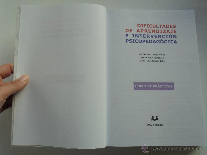 Libros de segunda mano: DIFICULTADES DE APRENDIZAJE E INTERVENCION PSICOPEDAGOGICA. TEORIA, PRACTICAS Y GUIA DIDACTICA. - Foto 78 - 53174855