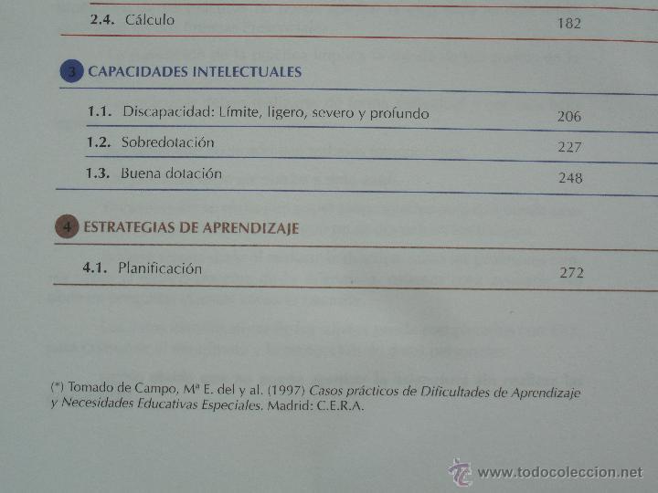 Libros de segunda mano: DIFICULTADES DE APRENDIZAJE E INTERVENCION PSICOPEDAGOGICA. TEORIA, PRACTICAS Y GUIA DIDACTICA. - Foto 88 - 53174855