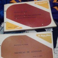 Libros de segunda mano: MADURACIÓN DEL LENGUAJE TECNICAS INSTRUMENTALES TECNICA DE LENGUAJE NIVEL 10 AÑOS NIVEL 9 AÑOS. Lote 56609340