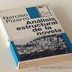 Libros de segunda mano: ANALISIS ESTRUCTURAL DE LA NOVELA, NARCISO PIZARRO, SIGLO XXI DE ESPAÑA 1970,176 PAGINAS. Lote 54233305