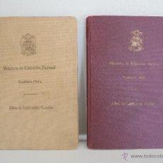 Libros de segunda mano: LIBRO DE CALIFICACION ESCOLAR. 1943-1944. JESUS CARRANZA ALONSO. JOSE ANTONIO CARRANZA ALONSO.. Lote 54354649