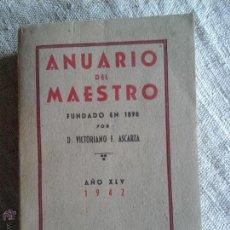 Libros de segunda mano: ANUARIO DEL MAESTRO. Lote 52330413
