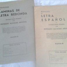 Libros de segunda mano: METODO DE LETRA ESPAÑOLA Y LAMINAS DE LETRA REDONDA-EUFRASIO ALCAZAR ANGUITA - 1959. Lote 55994033