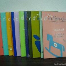 Libros de segunda mano: TEMES D´IN-FAN-CI-A (INFANCIA). EDUCAR DE 0-6 ANYS. JOAN RIPOLL. LOTE DE 14 LLIBRES EN CATALÁN.. Lote 56694970