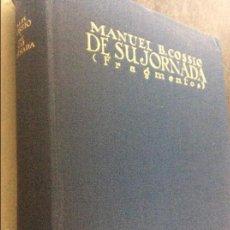 Livres d'occasion: MANUEL B. COSSIO DE SU JORNADA. Lote 56936388