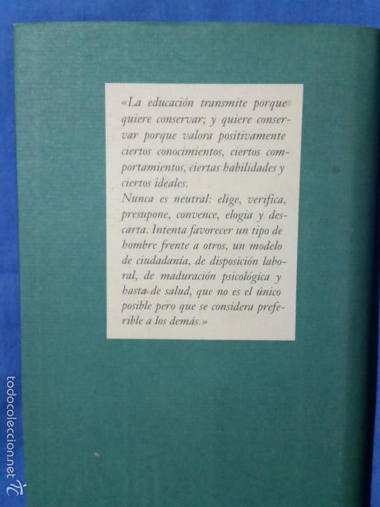 Libros de segunda mano: El Valor de Educar - 1997 - Fernando Savater - Tapa Dura - Ed. Círculo de Lectores - ISBN 8422668262 - Foto 2 - 113617919