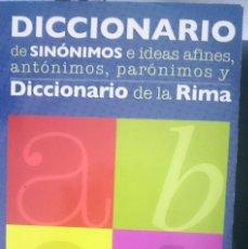 Libros de segunda mano: DICCIONARIO DE SINONIMOS E IDEAS AFINES ANTONIMOS PARONIMOS Y DICCIONARIO DE LA RIMA ---- REFM. Lote 57582207