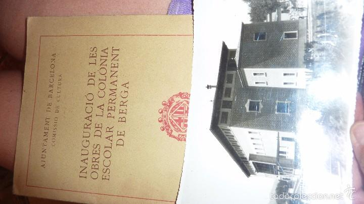 Libros de segunda mano: programa folleto inauguracio de les obres de la colonia escolar permanent de berga . foto 1932 - Foto 2 - 58074678