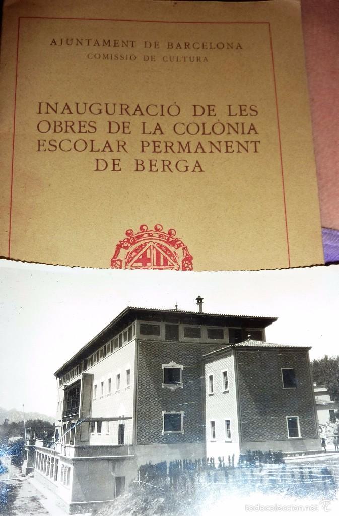 Libros de segunda mano: programa folleto inauguracio de les obres de la colonia escolar permanent de berga . foto 1932 - Foto 3 - 58074678
