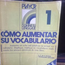 Libros de segunda mano: COMO AUMENTAR SU VOCABULARIO --REFM1E4. Lote 58088741