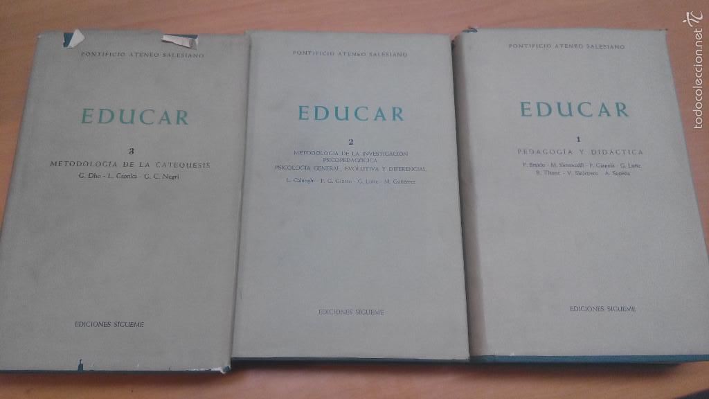 EDUCAR, PONTIFICIO ATENEO SALESIANO, SÍGUEME (Libros de Segunda Mano - Ciencias, Manuales y Oficios - Pedagogía)