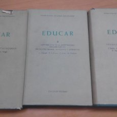 Libros de segunda mano: EDUCAR, PONTIFICIO ATENEO SALESIANO, SÍGUEME. Lote 58161784