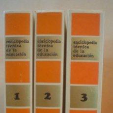 Libros de segunda mano: ENCICLOPEDIA TECNICA DE LA EDUCACION.3 TOMOS.COMPLETA.. Lote 58339427