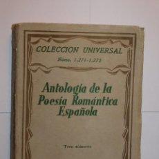 Libros de segunda mano: ANTOLOGÍA ESPAÑOLA. COLECCIÓN UNIVERSAL, TRES NÚMEROS. ESPASA CALPE, MADRID, 1941. . Lote 72327759