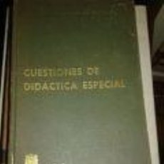 Libros de segunda mano: CUESTIONES DE DIDÁCTICA ESPECIAL BIBLIOTECA AUXILIAR DE EDUCACIÓN E. C. ENSEÑANZA PRIMARIA- ED. BAE. Lote 72832451