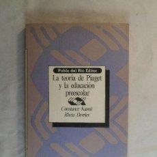 Libros de segunda mano: LA TEORÍA DE PIAGET Y LA EDUCACIÓN PREESCOLAR. CONSTANCE KAMII; RHETA DEVRIES.. Lote 227795725