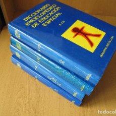 Libros de segunda mano: DICCIONARIO ENCICLOPÉDICO DE EDUCACIÓN ESPECIAL.- 4 TOMOS.- EDITORIAL SANTILLANA. Lote 78037737