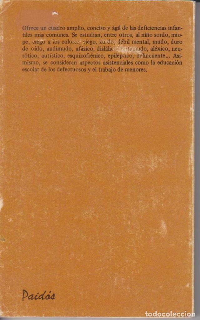 Libros de segunda mano: J. E. W. WALLIN - EL NIÑO DEFICIENTE FISICO, MENTAL Y EMOCIONAL - JAIME BERNSTEIN - PAIDÓS 79 - Foto 2 - 79583241