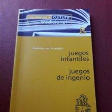 Libros de segunda mano: JUEGOS INFANTILES. JUEGOS DE INGENIO. MODESTO MARTÍN CEBRIÁN.. Lote 94251600