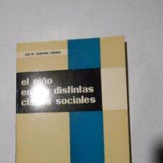 Libros de segunda mano: EL NIÑO EN LAS DISTINTAS CLASES SOCIALES - JOSÉ Mª QUINTANA CABANAS - EDITORIAL MARFIL - 1970. Lote 98647075