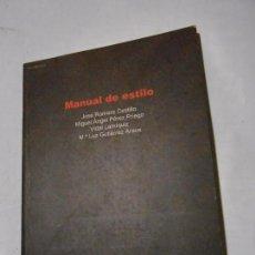 Libros de segunda mano: MANUAL DE ESTILO - UNIVERSIDAD NACIONAL DE EDUCACIÓN A DISTANCIA - VVAA - 2001. Lote 101145091
