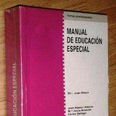 Libros de segunda mano: MANUAL DE EDUCACIÓN ESPECIAL DIRIGIDO POR JUAN MAYOR DE ED. ANAYA EN MADRID 1989. Lote 101672919