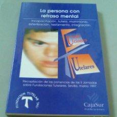 Libros de segunda mano: LA PERSONA CON RETRASO MENTAL.-FUNDACIONES TUTELARES. SEVILLA, MARZO 1997. Lote 104524227