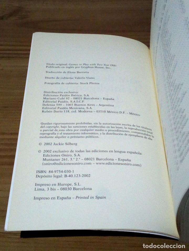 Libros de segunda mano: JUEGOS PARA DESARROLLAR LA INTELIGENCIA DEL NIÑO DE 2 A 3 AÑOS. SILBERG, JACKIE. 1 ª ed. 2002 - Foto 6 - 107176527