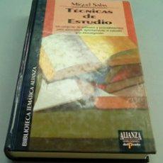 Libros de segunda mano: TECNICAS DE ESTUDIO.-MIGUEL SALAS. Lote 107354355