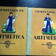 Libros de segunda mano: COMPENDIO DE ARITMETICA: PRIMER Y SEGUNDO GRADO. I.G SEIX BARRAL HNOS 1948. AGUSTIN BALLVE.VER FOTOS. Lote 107997815