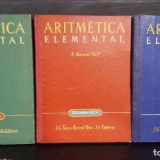 Libros de segunda mano: ARITMETICA ELEMENTAL. 3 CICLOS. R. MARIMON. SCH. P. I.G. SEIX BARRAL HNOS 1944. VER FOTOS.. Lote 107998919