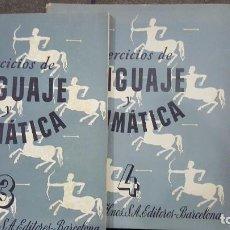 Libros de segunda mano: 1944.EJERCICIOS DE LENGUAJE Y GRAMATICA.SEIX BARRAL.VOLUMENES 3 , 4 Y 5. Lote 108000259