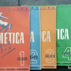 Libros de segunda mano: 1944.EMILIO VALLES.ARITMETICA.5 VOLÚMENES.SEIX BARRAL. Lote 108000495