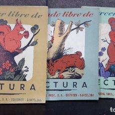 Libros de segunda mano: 1956.JACOBO DE ALGENDAR.TRES LIBRO S DE LECTURA. SEIX BARRAL. ILUSTRADOS. MUY BUEN ESTADO. Lote 108000767