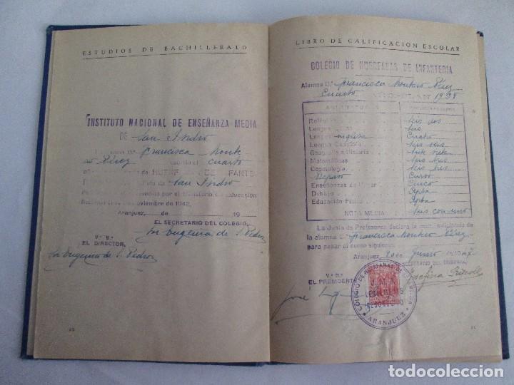 Libros de segunda mano: LIBRO DE CALIFICACION ESCOLAR. FRANCISCA MONTERO PÉREZ. ESTUDIOS DE BACHILLERATO.1943/49. - Foto 9 - 108442719