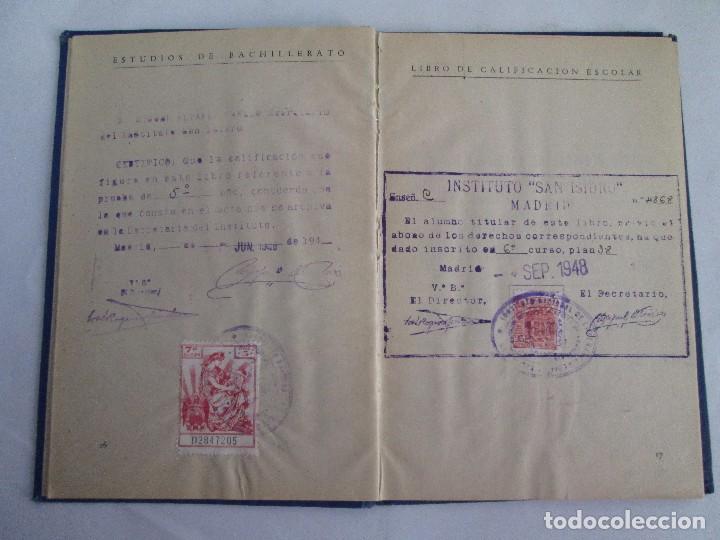 Libros de segunda mano: LIBRO DE CALIFICACION ESCOLAR. FRANCISCA MONTERO PÉREZ. ESTUDIOS DE BACHILLERATO.1943/49. - Foto 10 - 108442719
