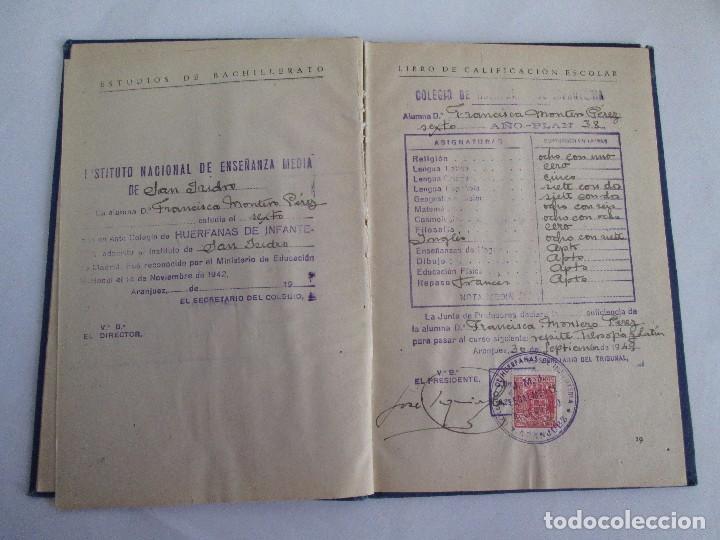 Libros de segunda mano: LIBRO DE CALIFICACION ESCOLAR. FRANCISCA MONTERO PÉREZ. ESTUDIOS DE BACHILLERATO.1943/49. - Foto 11 - 108442719