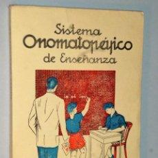 Libros de segunda mano: SISTEMA ONOMATOPÉYICO DE ENSEÑANZA.(LECTURA Y ESCRITURA SIMULTÁNEAS). Lote 110125583