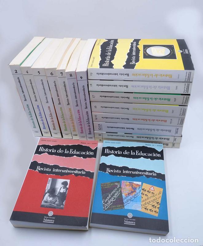 HISTORIA DE LA EDUCACIÓN REVISTA INTERUNIVERSITARIA NºS 2 A 21, A FALTA DEL 3 (VVAA) 1983 (Libros de Segunda Mano - Ciencias, Manuales y Oficios - Pedagogía)