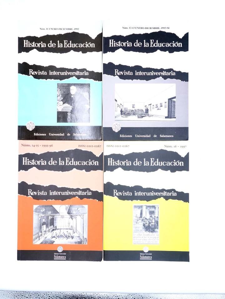 Libros de segunda mano: HISTORIA DE LA EDUCACIÓN REVISTA INTERUNIVERSITARIA NºS 2 A 21, A FALTA DEL 3 (Vvaa) 1983 - Foto 4 - 110270822