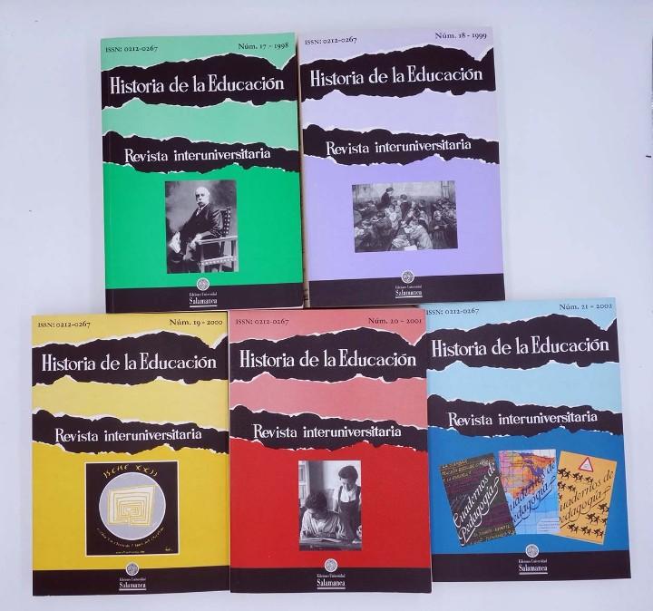 Libros de segunda mano: HISTORIA DE LA EDUCACIÓN REVISTA INTERUNIVERSITARIA NºS 2 A 21, A FALTA DEL 3 (Vvaa) 1983 - Foto 5 - 110270822