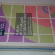 Libros de segunda mano: MÉTODOS DE INVESTIGACIÓN EN EDUCACIÓN SOCIAL-E DE LARA GUIJARRO-B BALLESTEROS VELAZQUEZ-UNED 2007. Lote 113205875