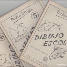 Libros de segunda mano: NUMULITE 0111 DIBUJO ESCOLAR 3 5 6 TRILLO TORIJA TEXTOS ESCOLARES AGUADO CUADERNO PEDAGOGÍA. Lote 114669795