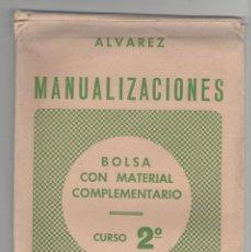 Libros de segunda mano: NUMULITE 2468 MANUALIZACIONES BOLSA CON MATERIAL COMPLEMENTARIO CURSO 2º ÁLVAREZ MIÑÓN MANUALIDADES. Lote 114670191