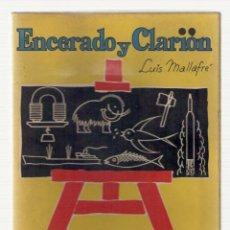 Libros de segunda mano: NUMULITE 2470 ENCERADO Y CLARIÓN LUIS MALLAFRÉ LIBRO PARA EL MAESTRO EDITORIAL ROMA . Lote 114670467