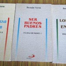 Libros de segunda mano: 3 LIBR - ESCUELA DE PADRES - SER BUENOS PADRES - LOS PROBLEMAS DE LOS HIJOS - LOS HIJOS Y EL ENTORNO. Lote 115234059