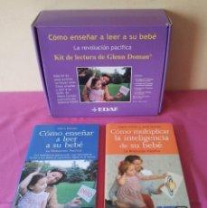 Libros de segunda mano: GLENN DOMAN - COMO ENSEÑAR A LEER A SU BEBE, KIT DE LECTURA - EDAF 2008 - REGALO 2 LIBROS MAS. Lote 115234379