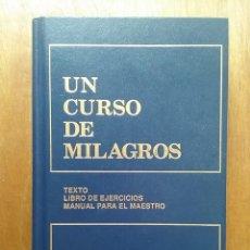 Libros de segunda mano: UN CURSO DE MILAGROS, TEXTO, LIBRO DE EJERCICIOS Y MANUAL PARA EL MAESTRO, FOUNDATION FOR INNER. Lote 115303179