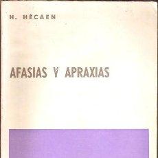 Libros de segunda mano: AFASIAS Y APRAXIAS H HECAEN EDITORIAL PAIDOS. Lote 117430367